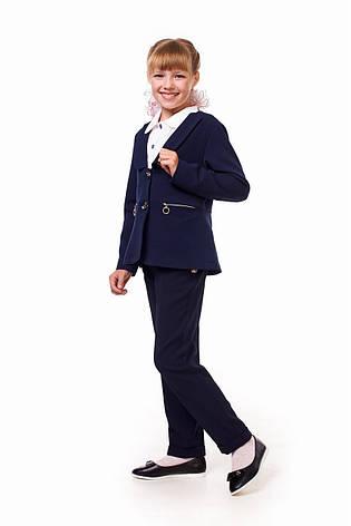 Школьный жакет синего цвета для девочки 17001, фото 2