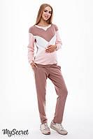 Ультрамодный костюм для беременных и кормящих OLBENI ST-38.012, нюд, фото 1