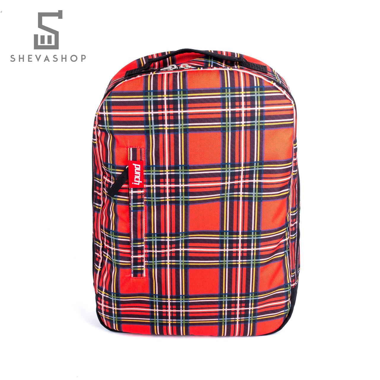 Рюкзак Punch Buzz tartan красный