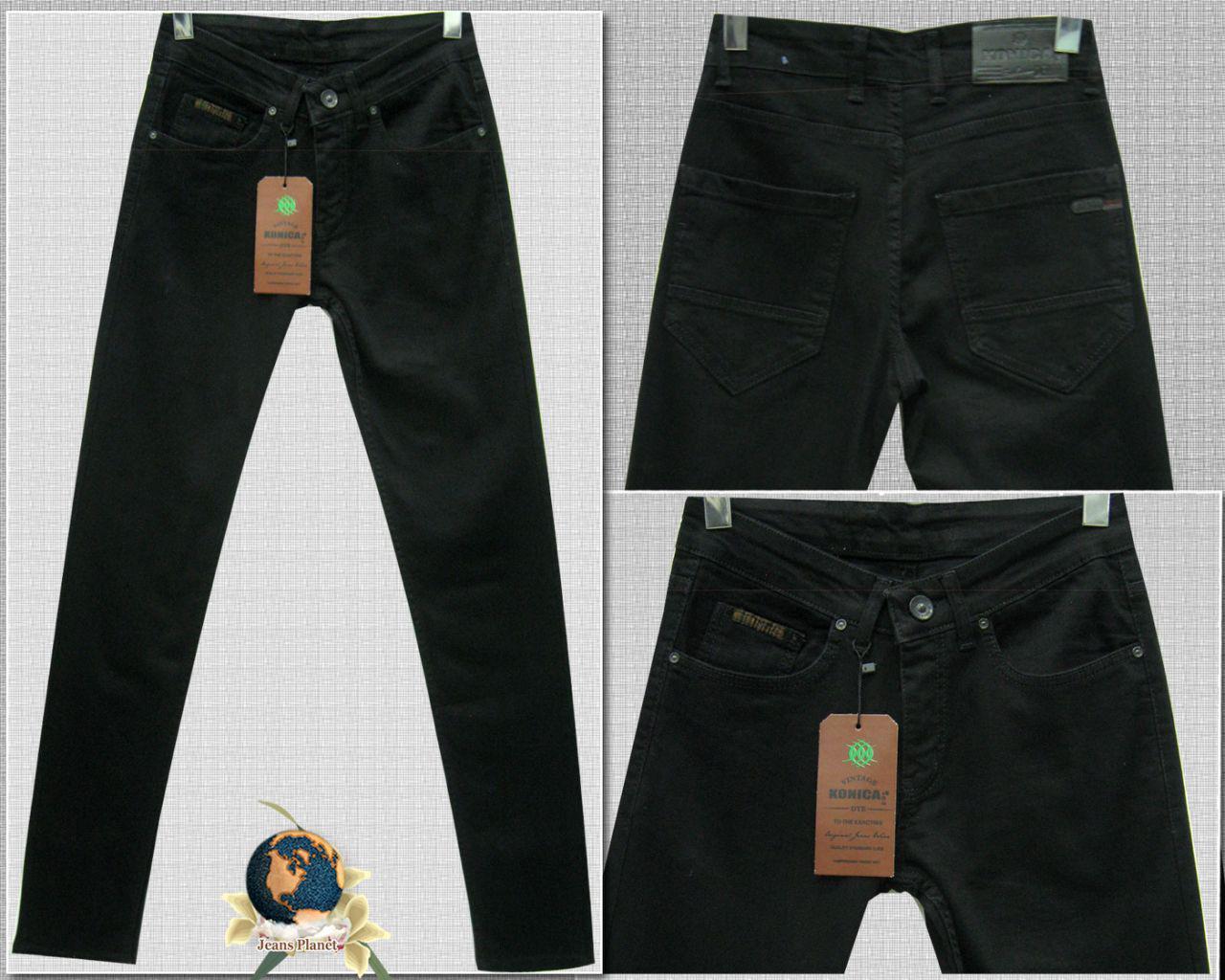 386183b36c2 Модные мужские зауженные джинсы однотонного чёрного цвета