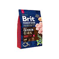 Сухой корм Brit Premium Adult М 15 кг (для взрослых собак крупных пород)