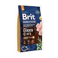Сухой корм Brit Premium Adult М 8 кг (для взрослых собак крупных пород)