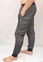 Брюки мужские трикотажные под манжет - меланж, фото 3