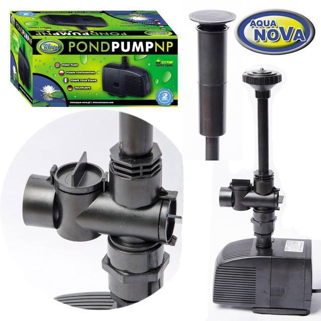 Насос для пруда AquaNova NP-2000 л/ч (в к-те фонтанные насадки)
