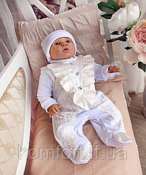 """Хрестильний комплект для хлопчика """"Принц"""" Вік від 0 до 6 міс"""