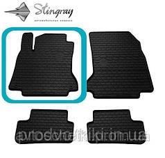 Коврики на Volkswagen Touran II 2010- Водительский коврик Черный в салон