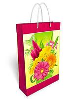 Пакет подарочный бумажный большой вертикальный 36.8*24.6*8.6см №31,042 СП