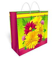 Бумажный подарочный пакет большой квадрат 32.3*32.3*14см №34,037 СП