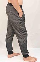 Брюки мужские трикотажные под манжет - меланж, фото 2