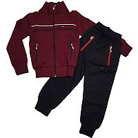 Спортивный костюм для мальчика 104-128   бордо, арт.4032