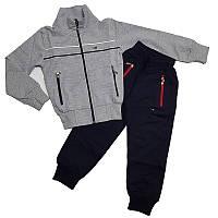 Спортивный костюм для мальчика 104-128 серый, арт.4032
