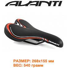 Седло велосипедное Avanti AVY-6628 (6628-black-red)