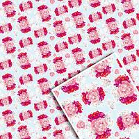 Подарочная упаковочная бумага УП - Цветочная №108
