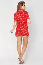 Пижама с шортами принт сердечки, фото 3