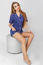 Пижама с шортами принт сердечки, фото 2