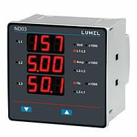 1 и 3-фазный измеритель электрической сети ND03