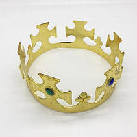 Корона царская пластиковая Золото
