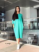 Свободное женское платье миди, фото 1