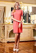 Нежное свободное платье персикового цвета (1164 svt), фото 3