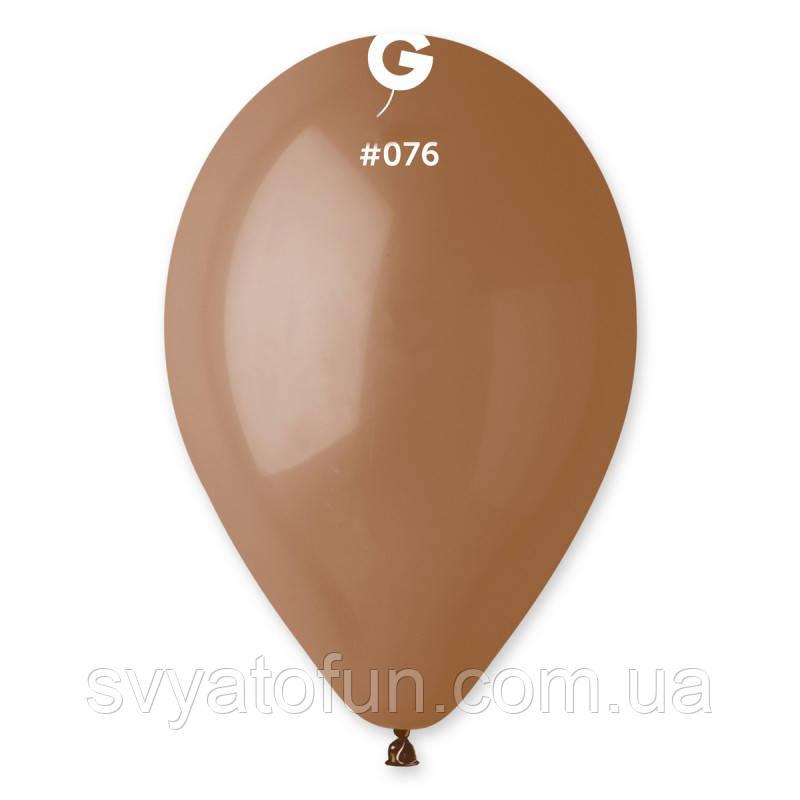 """Латексные воздушные шарики 10"""" пастель 76 мокко Gemar"""