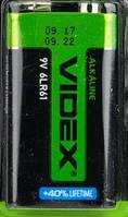 Батарейка Крона Videx (6LR61) alkaline