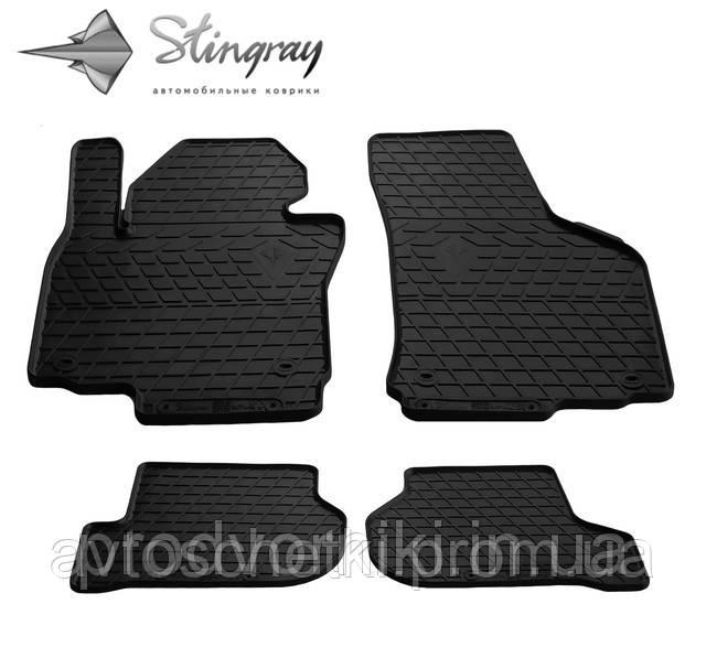 Коврики на Fiat Fiorino III 2008- Комплект из 4-х ковриков Черный в салон