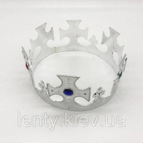 Царська Корона пластикова Срібло