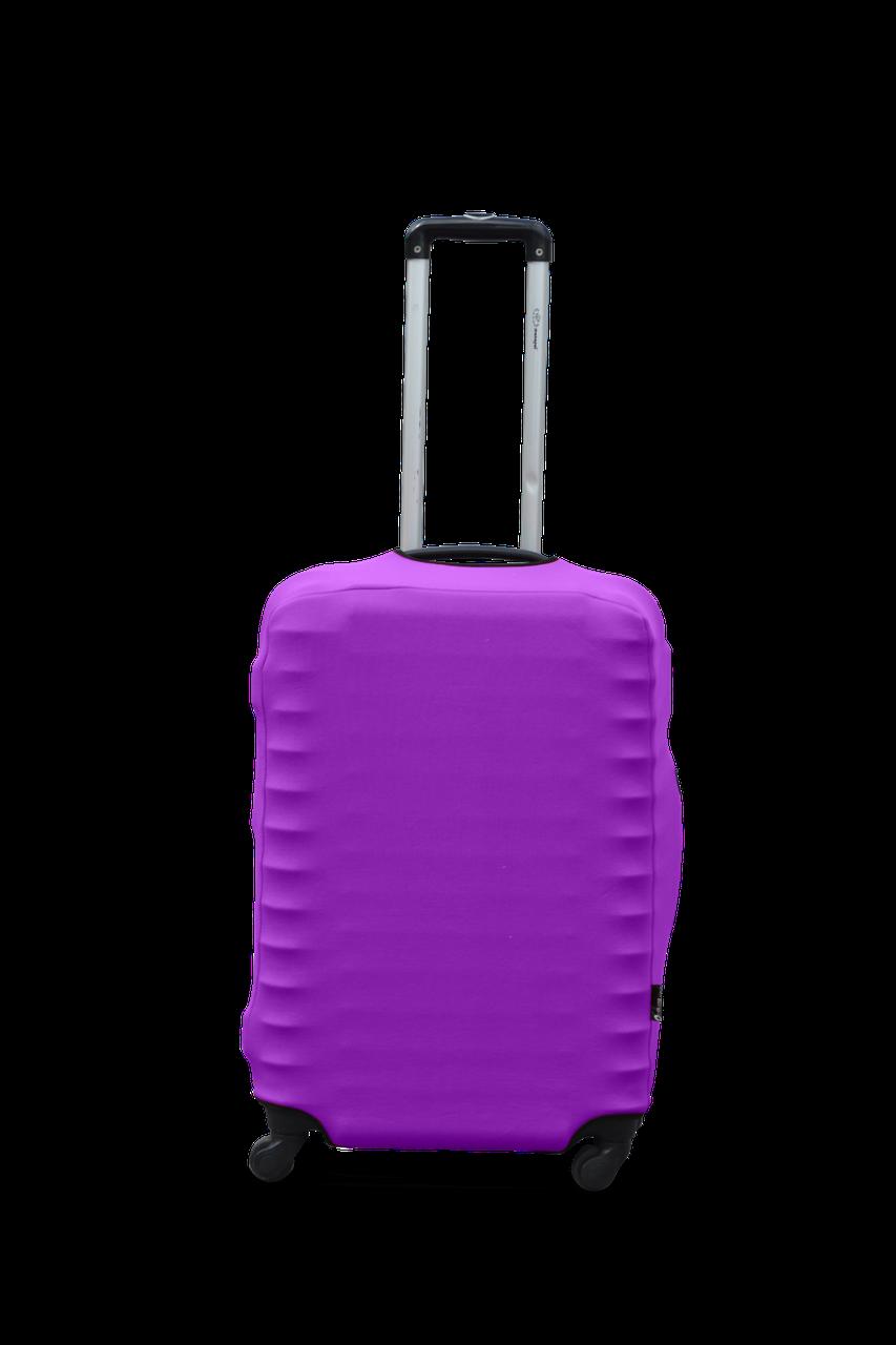 Чехол для чемодана Coverbag из дайвинга M (сирень)