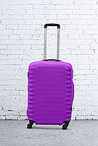 Чехол для чемодана Coverbag из дайвинга M (сирень), фото 3