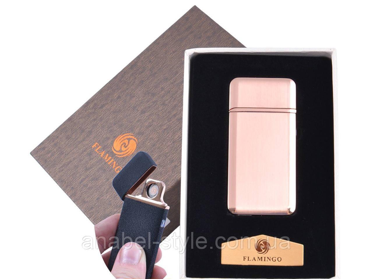 """USB  зажигалка в подарочной упаковке """"Flamingo"""" (Двухсторонняя спираль накаливания) №XT-4880-2 Код 120553"""