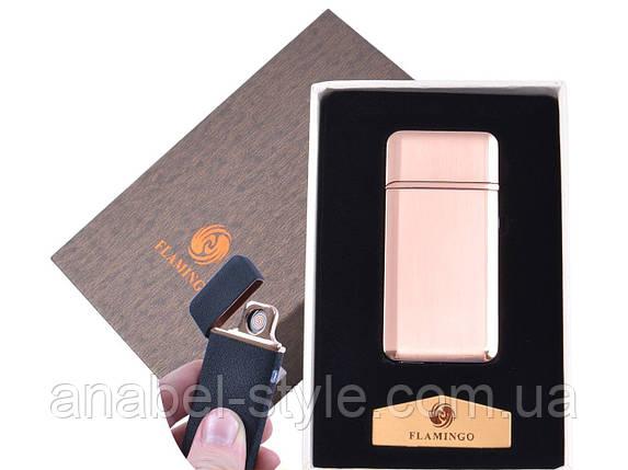 """USB  зажигалка в подарочной упаковке """"Flamingo"""" (Двухсторонняя спираль накаливания) №XT-4880-2 Код 120553, фото 2"""