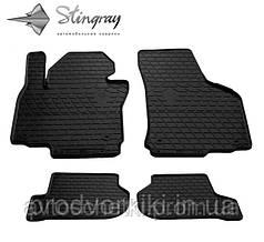Коврики на Volkswagen T5 (1+2) 2003- Комплект из 3-х ковриков Черный в салон