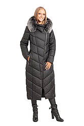 Зимнее женское пальто SV - 0717 цвет черный