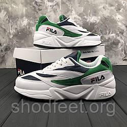 Мужские кроссовки Fila Wenom 94 Low White\Green