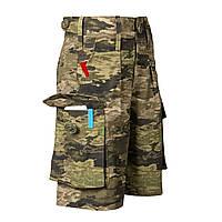 Детские камуфляжные шорты для мальчиков камуфляж A-Tacs LT аналог военных шорт армии Британии