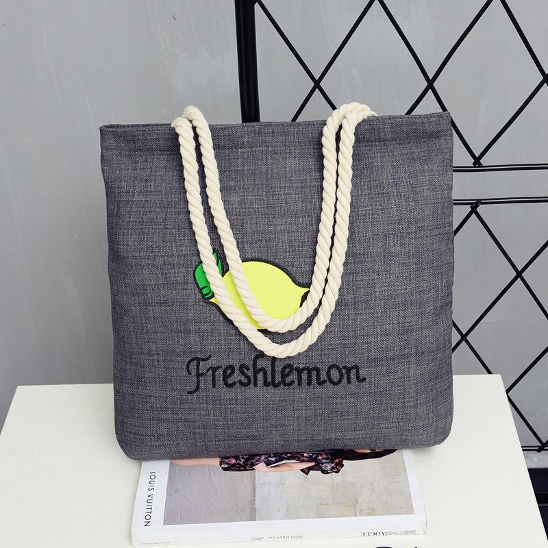 6640a3326065 Женская летняя пляжная сумка Lemon серого цвета: продажа, цена в ...