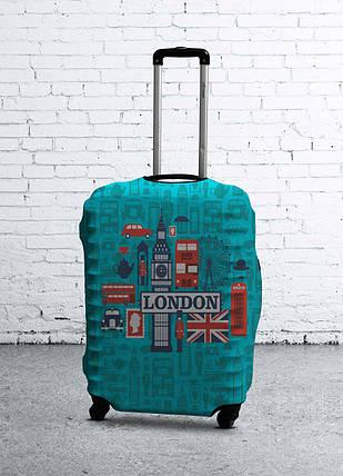 Чехол на чемодан с рисунком Coverbag 0412 размер L, фото 2