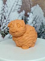 Вес 150 г. Оранжевое мыло ручной работы в виде хрюши из капусты. Подарок на новогодние праздники