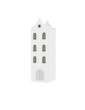 Home Little - Однодверный шкаф-домик дымоход 180