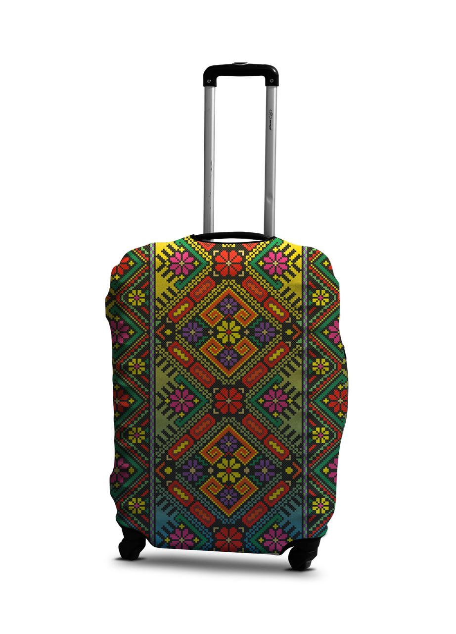 Чехол на чемодан с рисунком Coverbag 0416 размер S