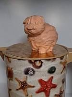 Натуральное мыло капустная свинка, ручная работа. Вес 150 г. Праздничный сюрприз друзьям.