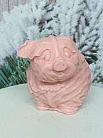 Розовая свинка, мыло ручной работы. Вес 150 г. Новогодняя феерия в год кабана 2019