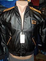 Детская куртка бомбер черная рост 122-146