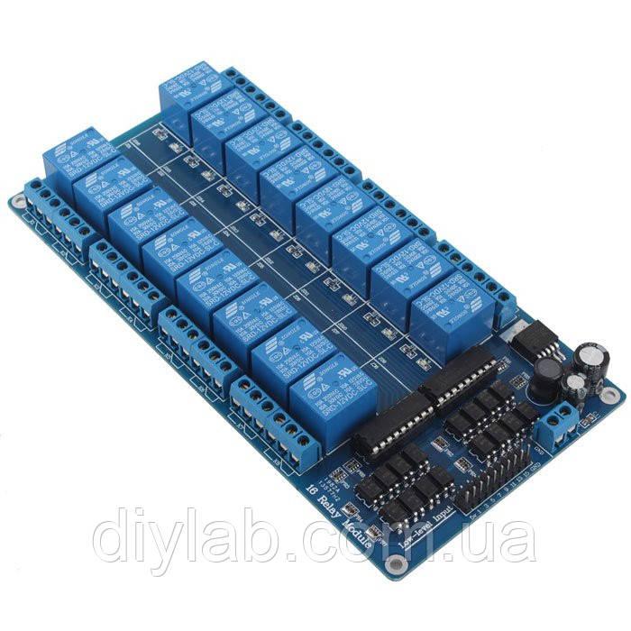 16-ти канальний модуль реле для Arduino, Raspberry Pi, STM32, AVR, фото 1