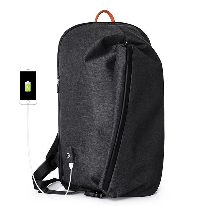 Рюкзак Casual с водоотталкивающим покрытием темно серый
