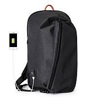 Рюкзак Casual с водоотталкивающим покрытием темно серый, фото 1