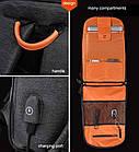 Рюкзак Casual с водоотталкивающим покрытием темно серый, фото 7