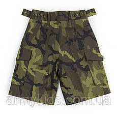 Детские камуфляжные шорты для мальчиков камуфляж Лес аналог военных шорт армии Британии, фото 3