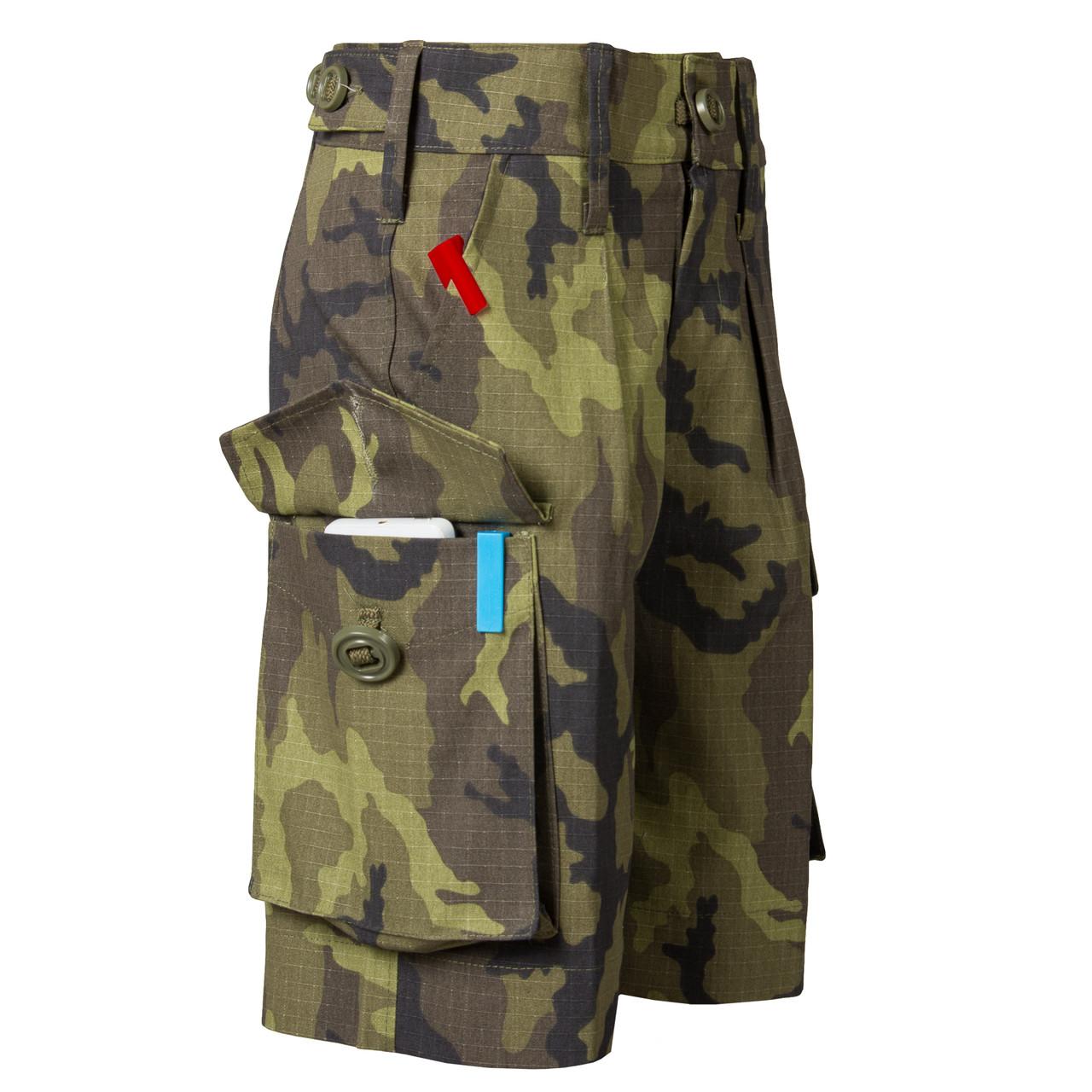 Детские камуфляжные шорты для мальчиков камуфляж Лес аналог военных шорт армии Британии