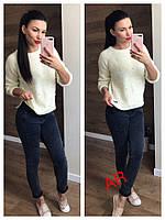 Женский стильный теплый свитер (расцветки), фото 1